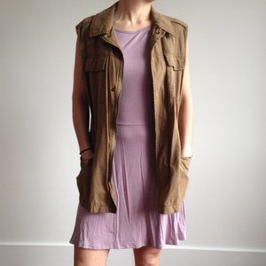 UO Ecoté - Brown Sleeveless Vest